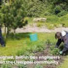 British Gas members volunteering