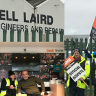 GMB members strike action at Cammell Laird