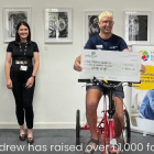 Andrew Wennell from GMB union raises funds for The Brain Charity