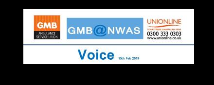 GMB Ambulance trade union Voice news update