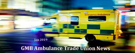GMB Ambulance news Jan 2019