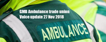 GMB Ambulance trade union news update