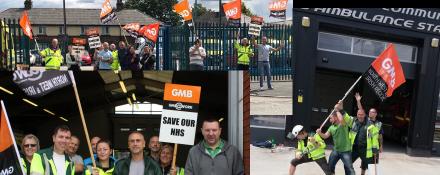 GMB Ambulance trade union strike update