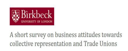 GMB Birkbeck Survey