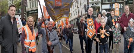 GMB March in May Day Rally