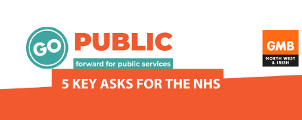 GMB NHS trade union campaigns for members rights