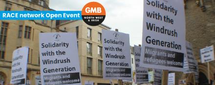 GMB union RACE network open event Windrush