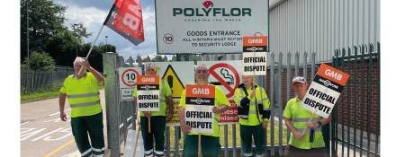 GMB union members take industrial action at Polyfor