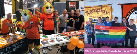 GMB trade union Pride events in June 2021