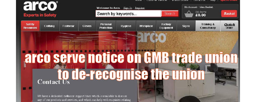 GMB fight plans by arco to de-recognise union