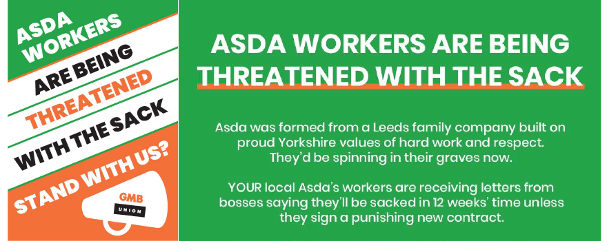 ASDA Contract pressure by GMB trade union