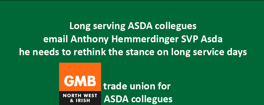 GMB trade union email to ASDA SVP