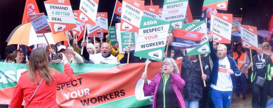 GMB union demo Wed 16 Oct 2019 Asda House