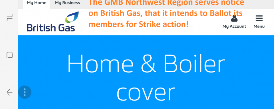 GMB Strike Ballot at British Gas