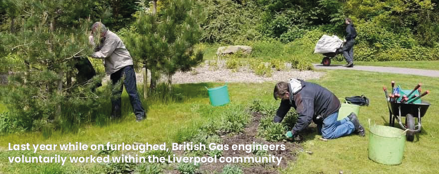 British Gas members volunteering