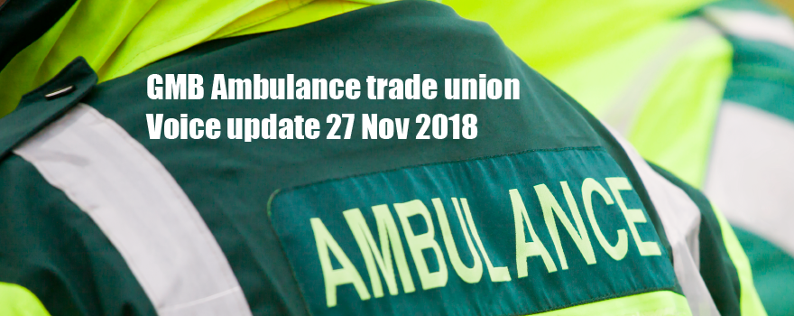 GMB Ambulance trade union news update