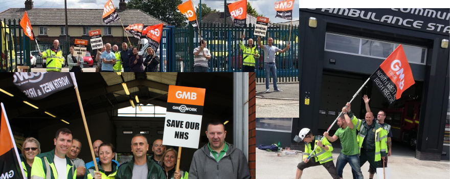 GMB Ambulance trade union strike update