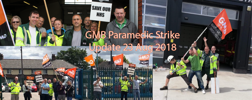 Ambulance trade union paramedic strike update