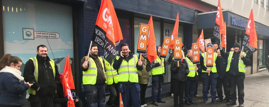GMB members protest at NI Housing Executive