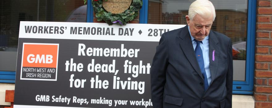 Workers Memorial Day 2018 at GMB trade union