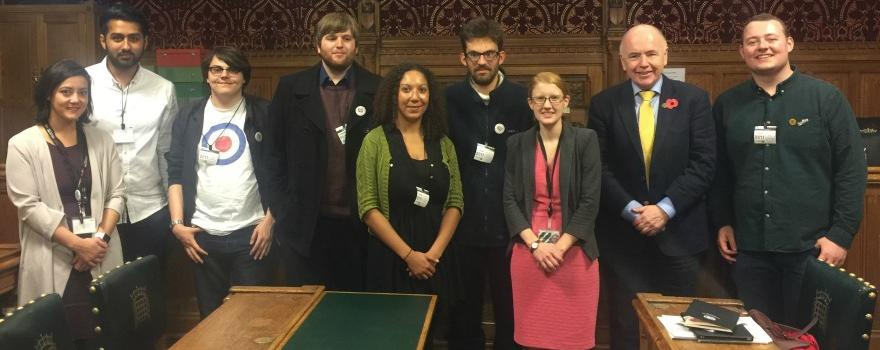 GMB Young Members visit parliament to promote the Living Wage Campaign