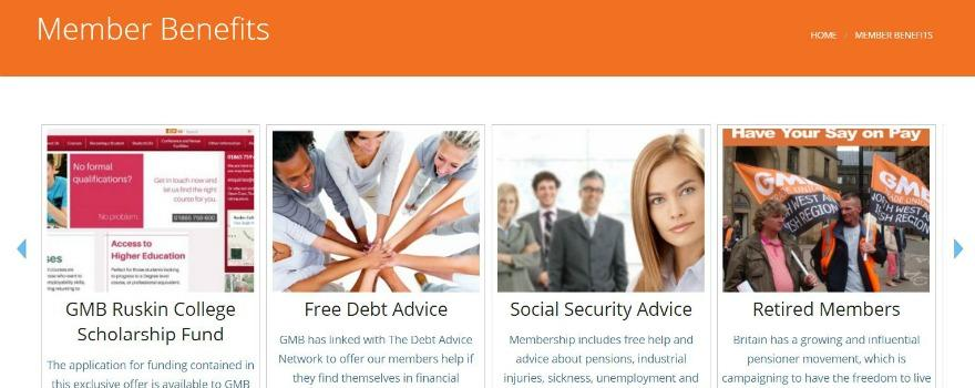 GMB member benefits include Free Legal Services