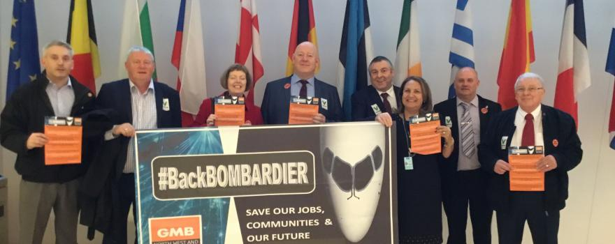 GMB in Brussels fighting for Bombardier jobs