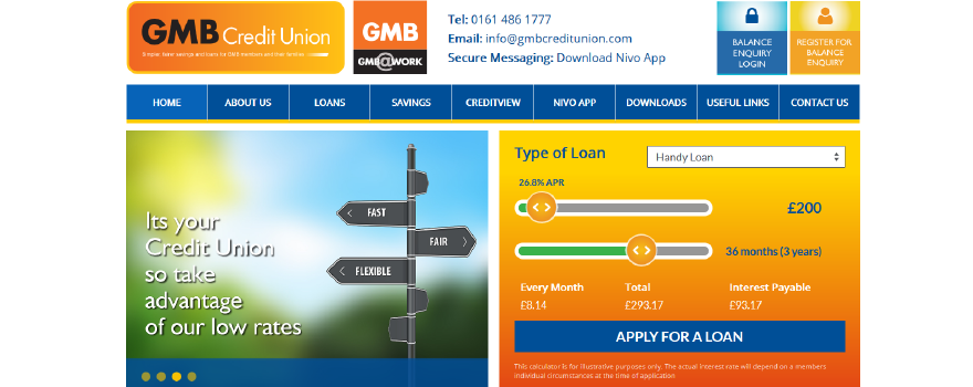 Credit Union for GMB trade union members ad their families