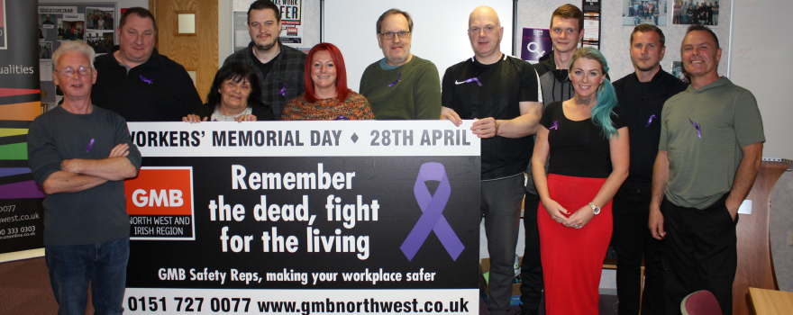 GMB trade union mark Workers Memorial Day 2019