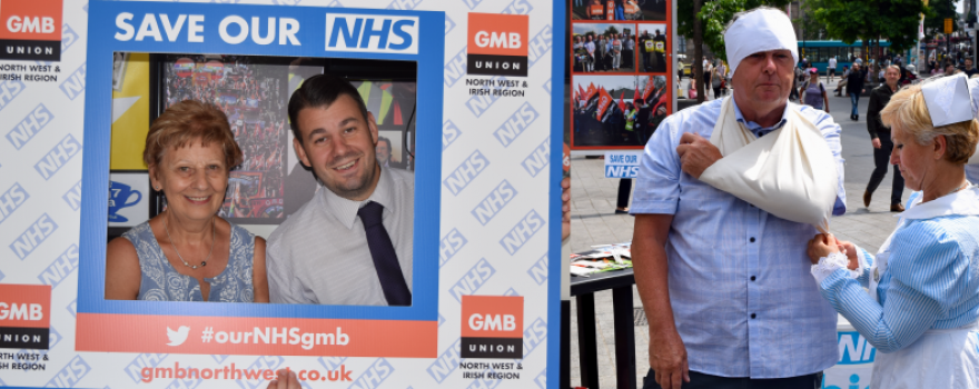 GMB Trade Union fighting for Our NHS