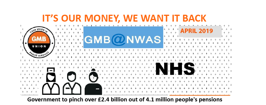 GMB trade union members want their pension back