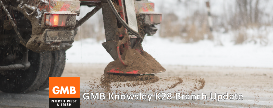 GMB Knowsley K28 branch update about winter gritting