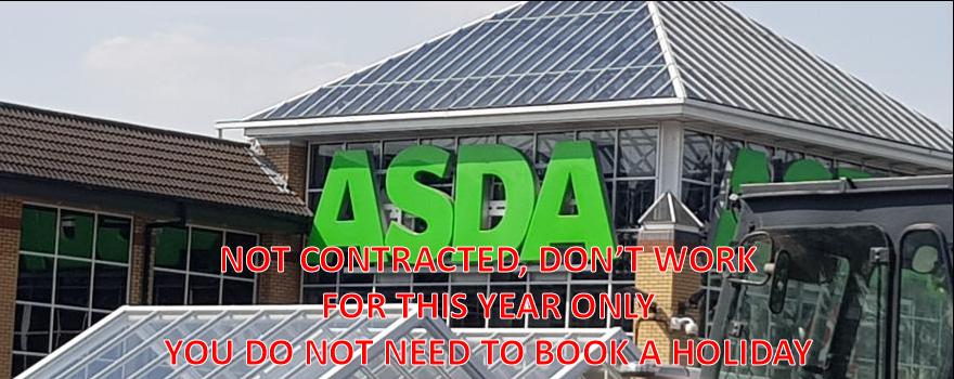 GMB union members holiday pay at ASDA