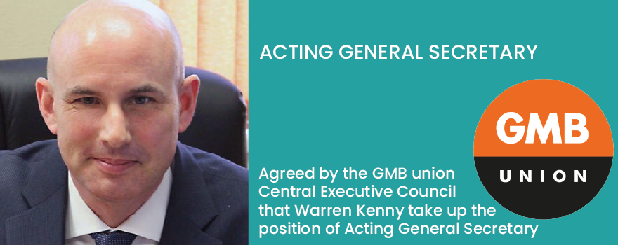 Warren Kenny appointed acting general secretary GMB union