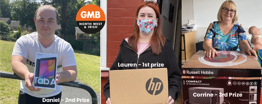 Prizes for GMB union care workers