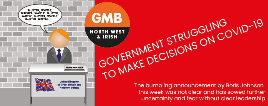 GMB union concern Government struggling with Covid 19