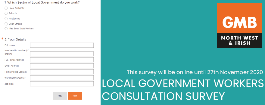 GMB union public service pay survey