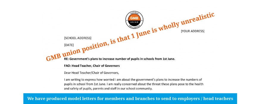 1 June is too soon says GMB union