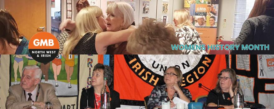 GMB union celebrate womens history month
