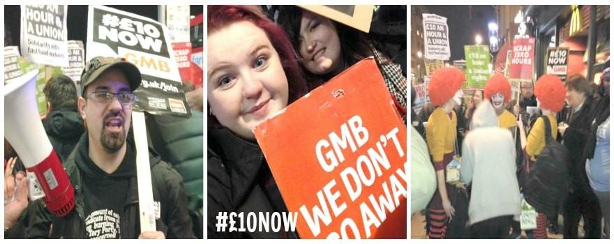 #£10NOW GMB Young Members set to demonstrate in Manchester