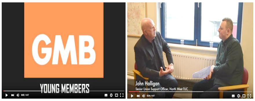 GMB Young Members on Mental Health interview John Halligan from the TUC