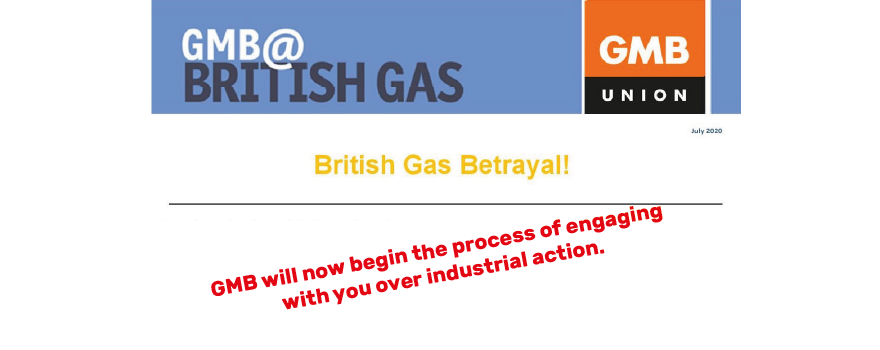 GMB union ballot members at British Gas