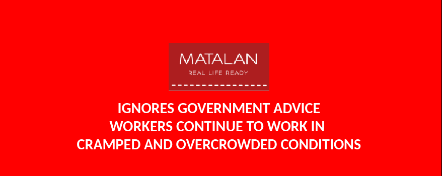 Matalan ignores goverment guidelines for coronavirus