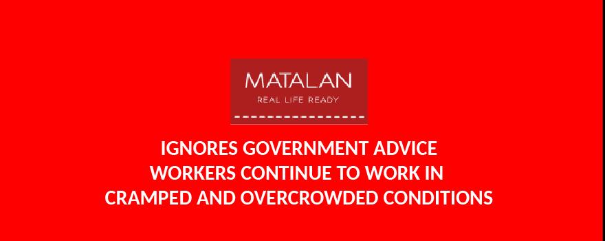 Matalan ignores goverment guidelines for coronavirus