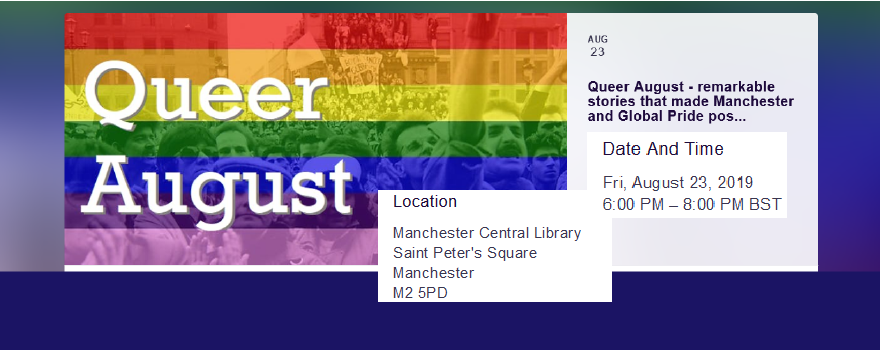 Queer August 2019 supported by GMB trade union