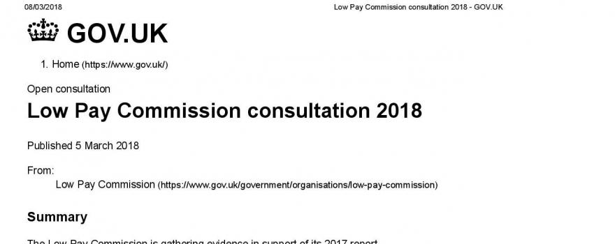 Low pay consultation