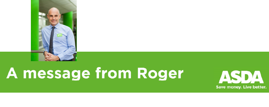 ASDA message from Roger