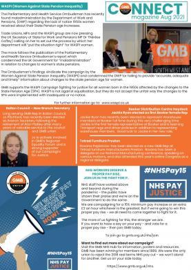 August 2021 CONNECT e-Magazine GMB union