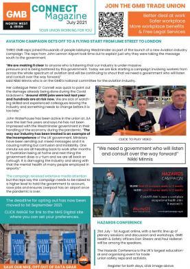 July 2021 GMB union CONNECT e-Magazine