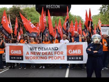 We demand a new deal for working people says GMB trade union